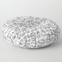 Music Pattern | Note Instrument Musical Listening Floor Pillow