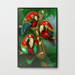 Lil Macaws Metal Print