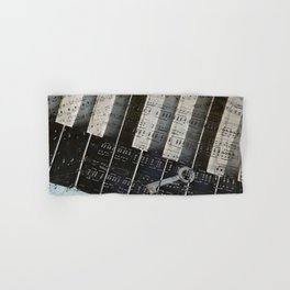 Piano Keys black and white - music notes Hand & Bath Towel