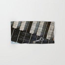 Piano Keys black and white - music notes Hand & Bath Towel