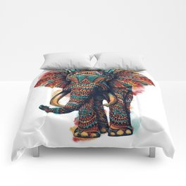 Ornate Elephant (Watercolor) Comforters
