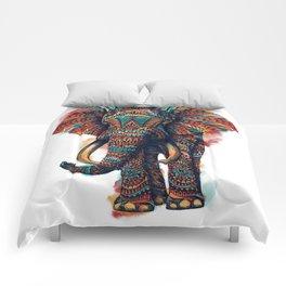 Ornate Elephant (Watercolor) Comforters