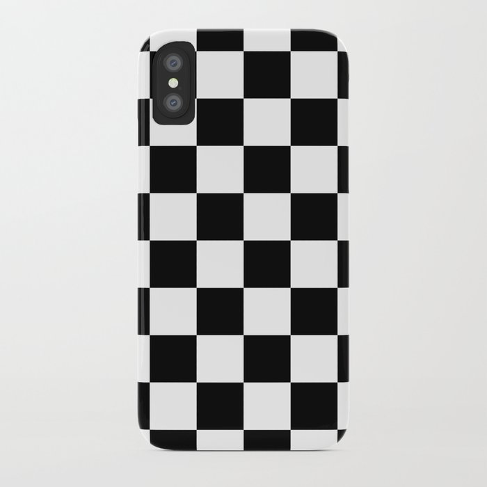 newest d798b 9366c Checkered Pattern: Black & White iPhone Case