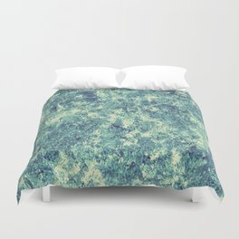Emerald Silver Crust Duvet Cover
