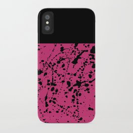 Splat Black On Yarrow Boarder iPhone Case