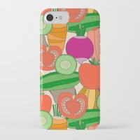 vegetables iPhone & iPod Cases featuring Vegetables by Valendji