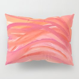 Abstract Pink Orange Purple Stripes Painting Girl Summer Colorful Pillow Sham