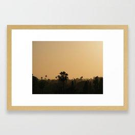 Anaheim Sunset Framed Art Print