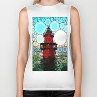 lighthouse Biker Tanks featuring Lighthouse by Thephotomomma