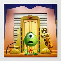 monster inc Canvas Prints featuring  Monster Inc Mike Wazowski by Thorin