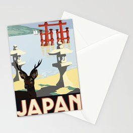 Vintage 1930s Japanese Railways Travel Poster - Japan Stationery Cards