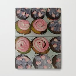 Variation of unicorn cupcake Metal Print