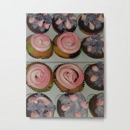 Variation of unicorn cupcake Metal Print