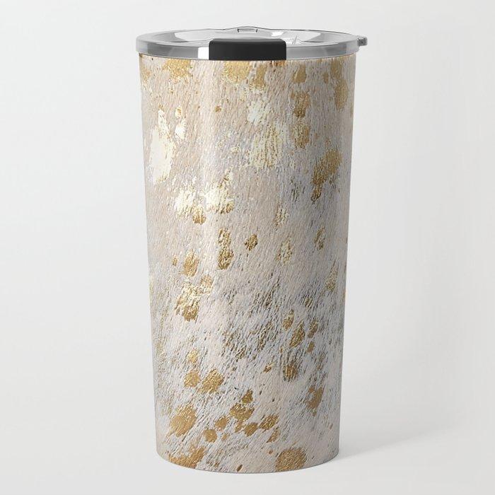 Gold Hide Print Metallic Travel Mug