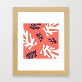 Living Coral & Blue Depths Framed Art Print