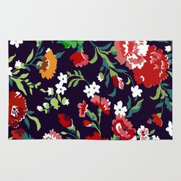 VAMPIRE WEEKEND FLORAL VECTOR Rug