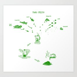 Thai Pesto Art Print