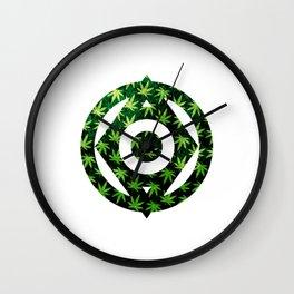 Pot Leaves Wall Clock