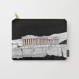 Parthenon black and white Carry-All Pouch