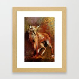 Abstract Red Fox Framed Art Print