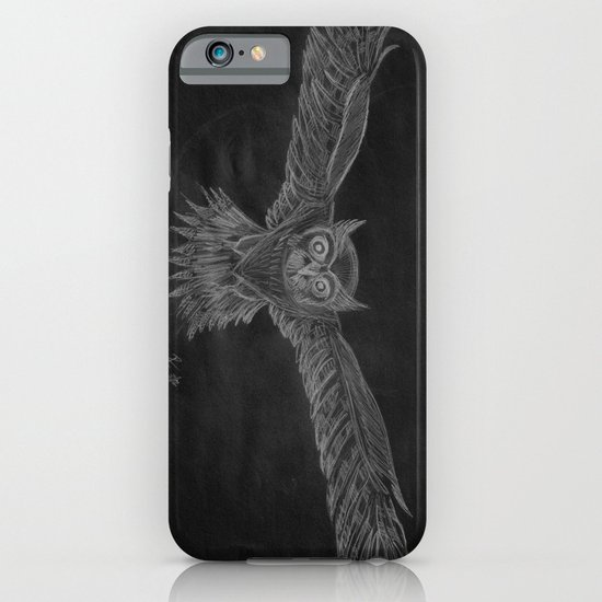 Owl sketch inverted iPhone & iPod Case