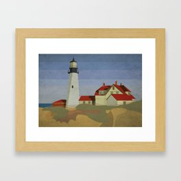 Portland Headlight Framed Art Print