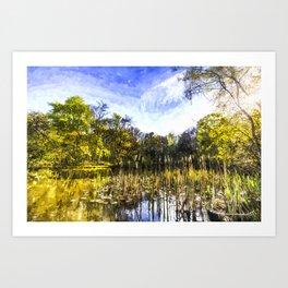 The Bulrush Pond Art Art Print
