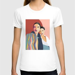 Womanity - Sisterhood - Model#2.3 - fashion illustration T-shirt