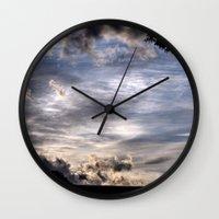 fairies Wall Clocks featuring Photographing Fairies by unaciertamirada