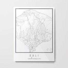 Bali indonesia Street Map Metal Print