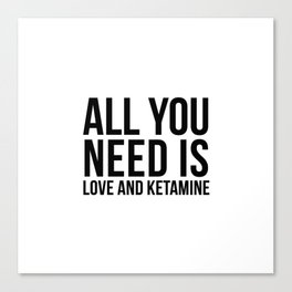 Love and Ketamine | gift idea Canvas Print