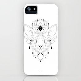 Mandala Sphynx iPhone Case