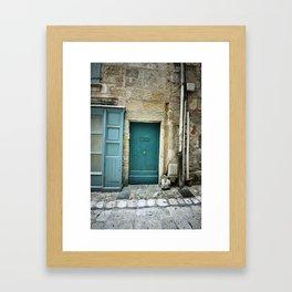 Histoire de portes III Framed Art Print