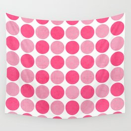 the pink dots Wall Tapestry