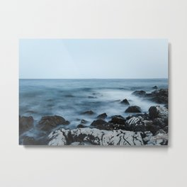 Rocky shore with misty water Metal Print