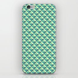 Green Triangles Pattern iPhone Skin