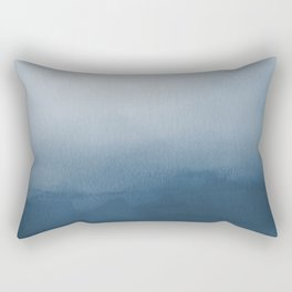 White & Blue Abstract Watercolor Blend Pairs To 2020 Color of the Year Chinese Porcelain PPG1160-6 Rectangular Pillow