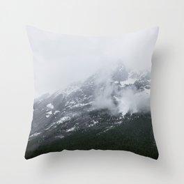 Mountains Landscape Photography | Maligne Lake Alberta Throw Pillow