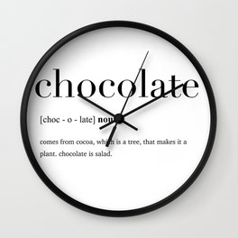 Chocolate definition Wall Clock