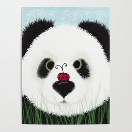 The Panda Bear And His Visitor Poster
