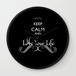 'Love Your Life' Wall Clock