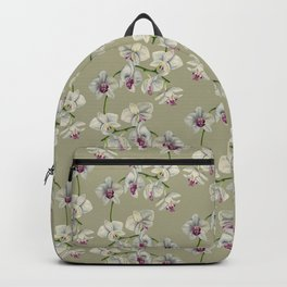 Orchid Watercolor Painting Backpack