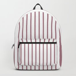 Princess Plum Pinstripe on White Backpack