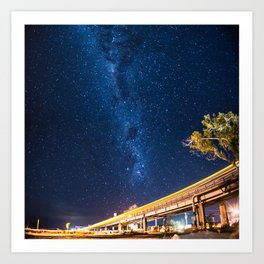 Milky Way Bridge Art Print