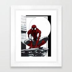 Spiderman Noir (Alt. Version) Framed Art Print