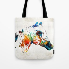 Colorful Horse Art - Wild Paint - By Sharon Cummings Tote Bag