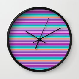 Stripes Colorul Mood Wall Clock