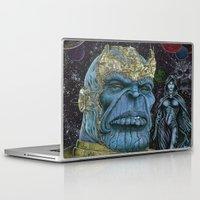 thanos Laptop & iPad Skins featuring Thanos of Titan by GraphixRob Studios