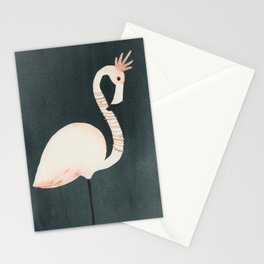 Flamingo and Crown Stationery Cards