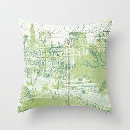 springtime in Paris Throw Pillow